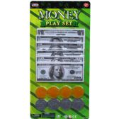72 Units of 6O BILL-8 PLASTIC COIN MONEY PLAY SET IN BLISTER CARD - Boy Play Sets