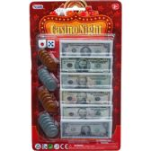 48 Units of BILLS AND COINS CASINO NIGHT MONEY SET IN BLISTER CARD - Educational Toys