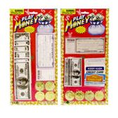 144 Units of PLAY MONEY SET ON BLISTER CARD