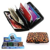 96 Units of DSD - ALUMINUM WALLET WITH PATTERN + CO 4.25 IN X 2.875 IN W X .75 IN THICK - PURSES/WALLETS