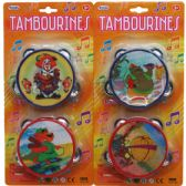 "48 Units of 2PC 4"" TAMBOURINE SET IN BLISTER CARD"