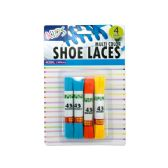 72 Units of Kids Colored Shoelaces - Footwear Accessories