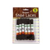 72 Units of Brown Shoe Laces - Footwear Accessories