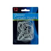 72 Units of Metal Shower Curtain Hooks Set