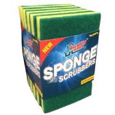 72 Units of 6 Pack Sponge Scrubbers Scourer - Scouring Pads & Sponges