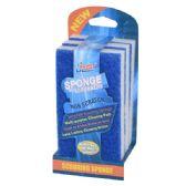 144 Units of 3 Pack Scourer Sponge - Scouring Pads & Sponges