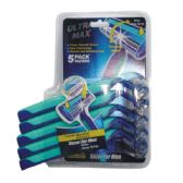 72 Units of 5 Pack Twin Blade Ultra Max Razor