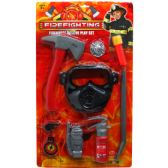 24 Units of 9PC FIRE FIGHTER PLAY SET W/OXYGEN MASK IN BLISTERD CARD - Toy Sets
