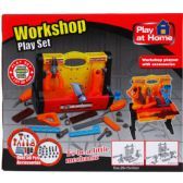 12 Units of 50PC PLUS WORKSHOP TOOL PLAY SET IN COLOR BOX - Toy Sets