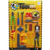36 Units of EIGHTEEN PIECE TOOL PLAY SET IN BLISTER CARD - Toy Sets