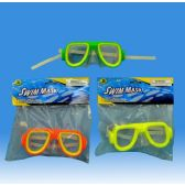 48 Units of Swimming mask in PVC bag header card - Summer Toys