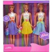"24 Units of 3PC 12"" BENDABLE DOLLS SET IN WINDOW BOX - Dolls"