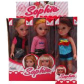 "36 Units of 9PC 12.75"" SOPHIE DOLL IN COLOR DISPLAY BOX, - Dolls"