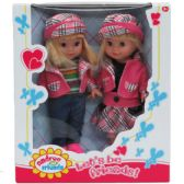 "12 Units of 2PC 10.5"" ANDREA & FRIENDS DOLL SET IN WINDOW BOX - Dolls"