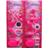 36 Units of 11PC FASHIONISTA BEAUTY SET IN BLISTER CARD, ASSORTED - Toy Sets