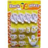 36 Units of 18PC DUCK PARTY TEA PLAY SET IN BLISTER CARD - Toy Sets