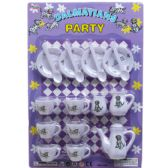 36 Units of 18PC DALMATIANS PARTY TEA PLAY SET IN BLISTER CARD - Toy Sets