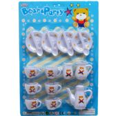 36 Units of 18PC BEAR & PARTY TEA PLAY SET IN BLISTER CARD - Toy Sets
