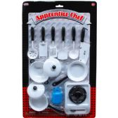 24 Units of 12PC APPRENTICE CHEF COOKING PLAYSET IN BLISTER CARD ASSORT. - Toy Sets