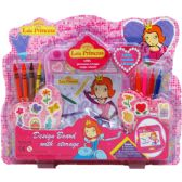 24 Units of 12PC MAGNETIC DRAWING PLAY SET IN BLISTER CARD - Girls Toys