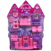 24 Units of DREAM CASTLE W/FURNITURE IN BLISTERED CARD - Girls Toys