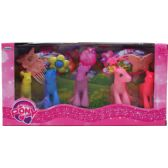24 Units of RAINBOW PONIES SET WITH ACCESSORIES IN WINDOW BOX - Toy Sets