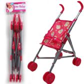 "24 Units of 20""H STEEL FRAME DOLL STROLLER IN POLY BAG W/ HEADER"
