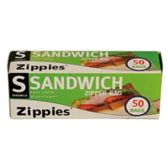 72 Units of 50 CT ZIP SEAL SANDWICH BAGS 6.5 INCH X 5.9 INCH - Bag