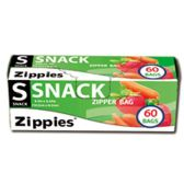 72 Units of 60 CT ZIP SEAL SNACK BAGS 6.5 INCH X 3.25 INCH - Bag