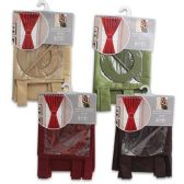 24 Units of FAUX SILK CURTAIN 58 X 54 INCHES ASSORTED COLORS - Curtains
