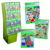 120 Units of TRAVEL GAMES 120 PC DISPLAY 4 ASSORTED GAMES