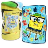 12 Units of SPONGE BOB BLANKET 30 X 43 INCHES
