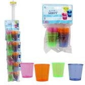 72 Units of 12 PACK PLASTIC SHOT GLASS 2 OZ ASSORTED COLORS - PLASTIC ITEMS