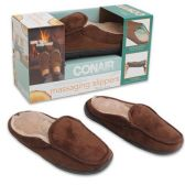 8 Units of MENS BRWN MASSAGING CONAIR SLIPPERS SIZE 8-10.5