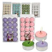 72 Units of 15 CT TEALIGHT SCENTED CANDLES ASSORTED COLORS