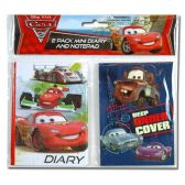 96 Units of CARS MINI DIARY AND NOTE PAD SET IN POLY BAG WITH HEADER