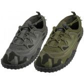 "36 Units of Men Camouflage Lace Up ""Wave"" Water shoes - Men's Aqua Socks"