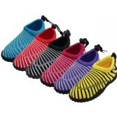"36 Units of Women's Sea Shell Print ""Wave"" Water Shoe - Women's Aqua Socks"