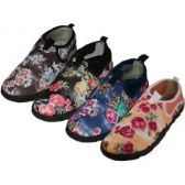 "36 Units of Women's Floral Printed ""Wave"" Water Shoes - Women's Aqua Socks"