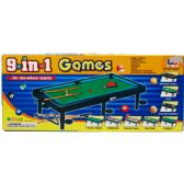 24 Units of 9 IN 1 TABLE GAMES IN COLOR BOX - Sports Toys