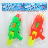 "48 Units of 14"" WATER GUN IN POLY BAG W/HEADER, ASST. COLORS - Water Guns"