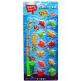 24 Units of 14PC GONE FISHIN GAME PLAY SET W/TWO RODS IN BLISTER - Dominoes & Chess