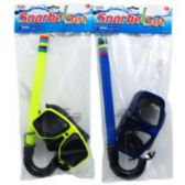 36 Units of SNORKEL AND GOGGLE SET IN POLY BAG - Summer Toys