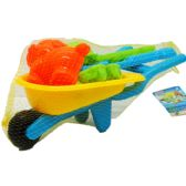 48 Units of BEACH TOY WHEEL BARROW W/ ACCSS. IN NET BAG - Beach Toys