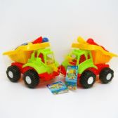 """24 Units of 8""""L x 6""""H BEACH TOY TRUCK W/ACCSS IN NET BAG - Beach Toys"""