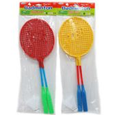 96 Units of BADMINTON PLAY SET WITH BIRDIE IN POLY BAG W/HEADER - Sports Toys