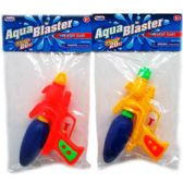 "72 Units of 7.5"" WATER GUN IN POLY BAG W/HEADER, ASST. COLORS"