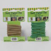 48 Units of Soft Twist Tie 10ft/3mm Green/ Tan 12pc Merchstrip Gardn Tcd - Garden Tools