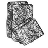 10 Units of 4PC CARPET FLOOR MATS LEOPARD WHITE PRIN 2PC FRONT & 2PC BACK MATS