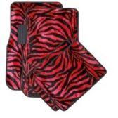 10 Units of 4PC CARPET FLOOR MATS ZEBRA RED&BLACK PR 2PC FRONT & 2PC BACK MATS